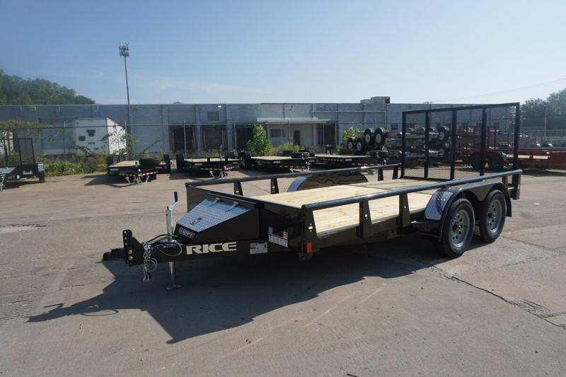 "2020 Rice 82""x14' Pipe Top Utility Trailer"