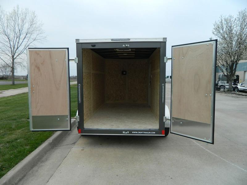 2020 Bravo 6'x12' SS Enclosed w/ Rear Barn doors