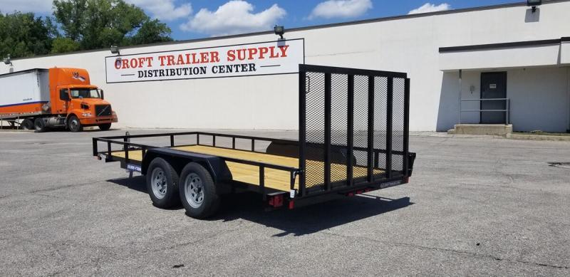 "2019 Sure-Trac 82""x16' Angle Iron Utility Trailer w/ Brakes"