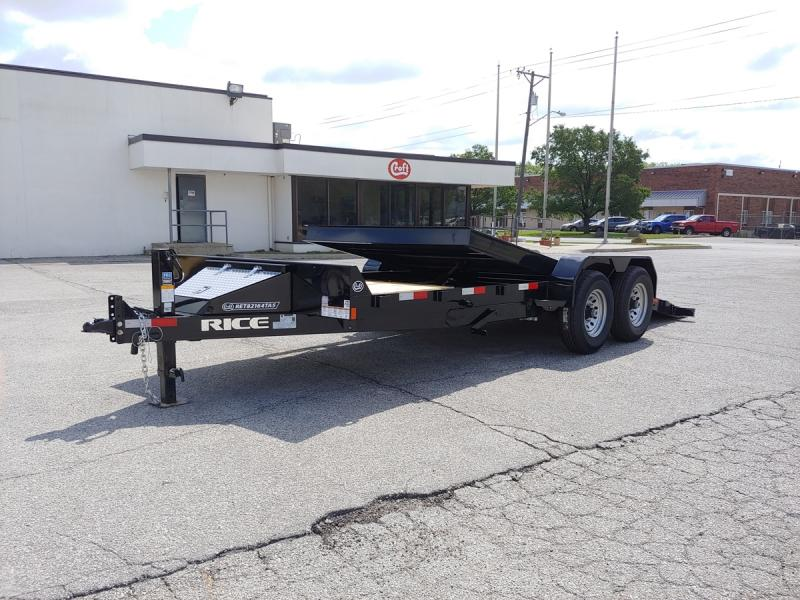 "2019 Rice 82""x16'+4' Equipment Tilt Trailer - 14k"