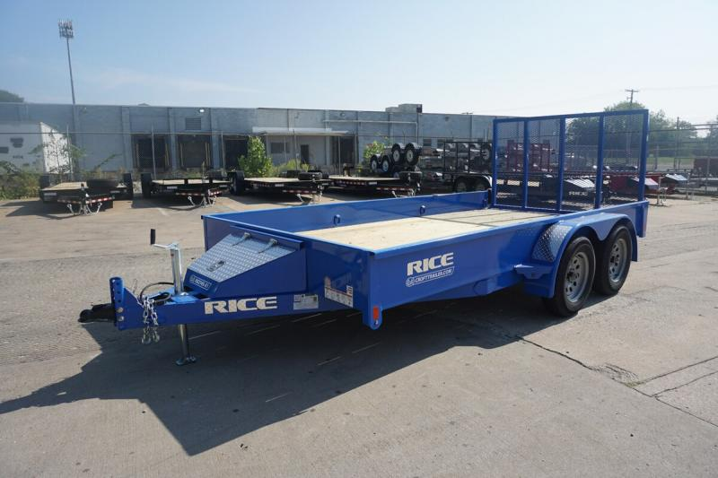 "2020 Rice 82""x14' Stealth Solid Side Utility Trailer"