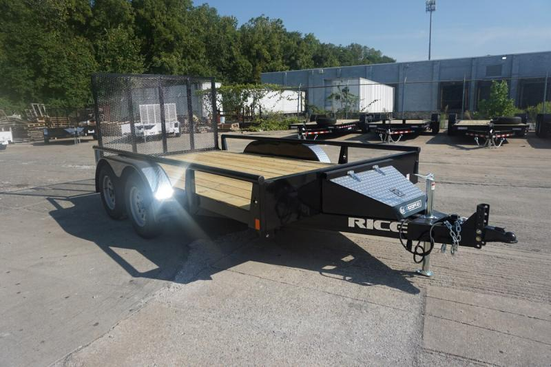 """2019 Rice 82""""x12' Pipe Top Utility Trailer"""