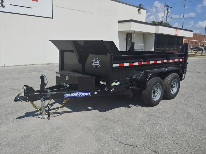 "2020 Sure-Trac 72""x10' SD Deckover Dump Trailer - 10k"