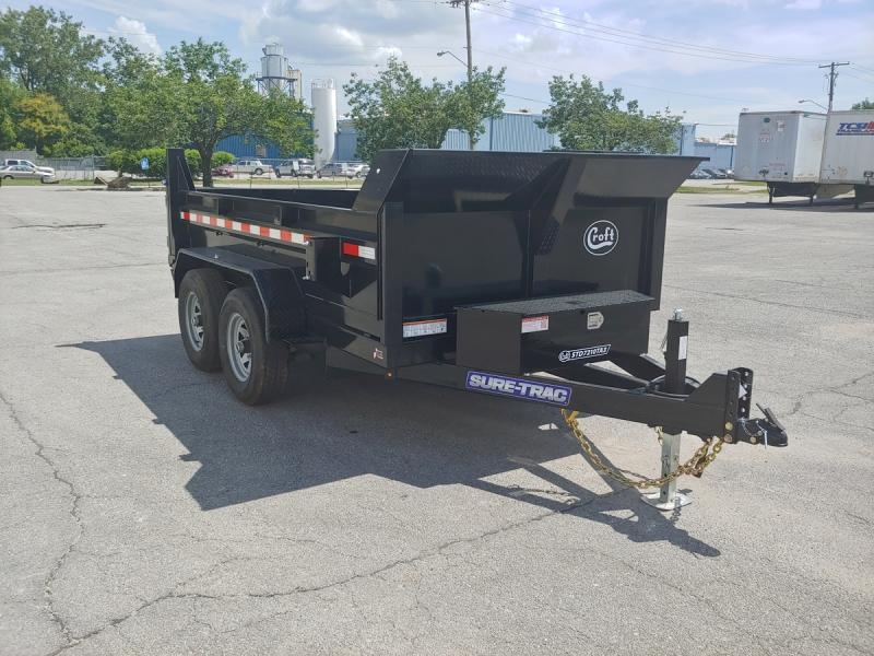 "2020 Sure-Trac 72""x10' SD Deckover Dump Trailer - 10k"