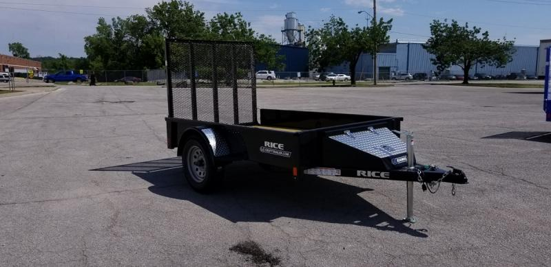 2020 Rice 5'x8' Stealth Solid Side Utility Trailer