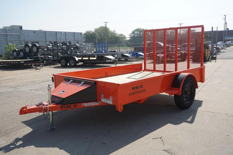 2019 Rice 6'x10' Stealth Solid Side Utility Trailer
