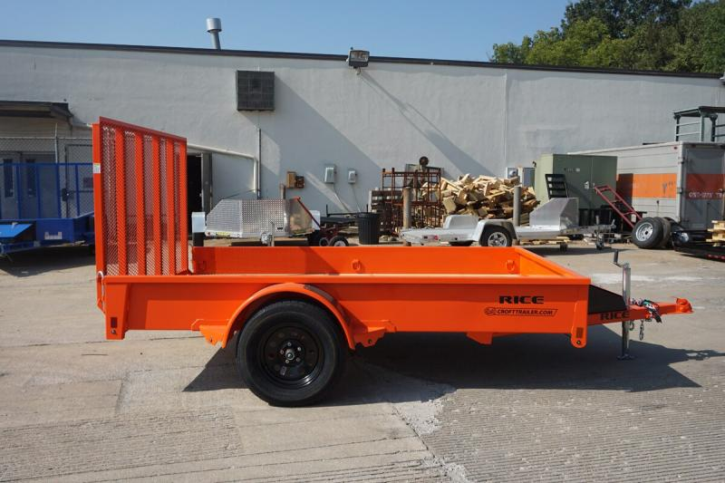 2020 Rice 6'x10' Stealth Solid Side Utility Trailer