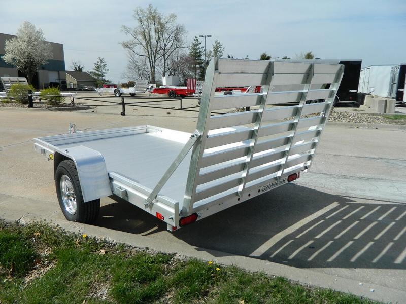 "Aluma 72""x10' Aluminum Utility Trailer - 3.5k"