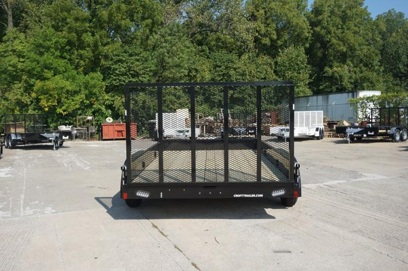 """2019 Rice 82""""x12' Stealth Solid Side Utility Trailer"""