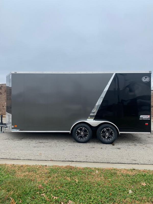 2020 Bravo 7'x16' SS Enclosed w/ Ramp Door