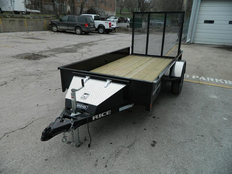 2020 Rice 5'x10' Stealth Solid Side Utility Trailer