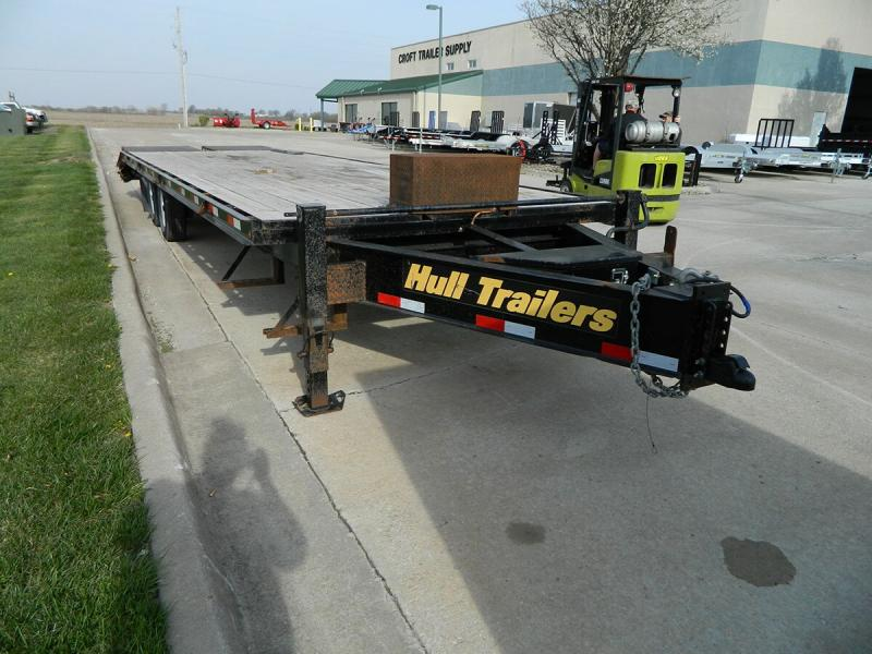 Used 2015 Hull 8.5' x 25+5' Bumper Pull Deckover - 14k