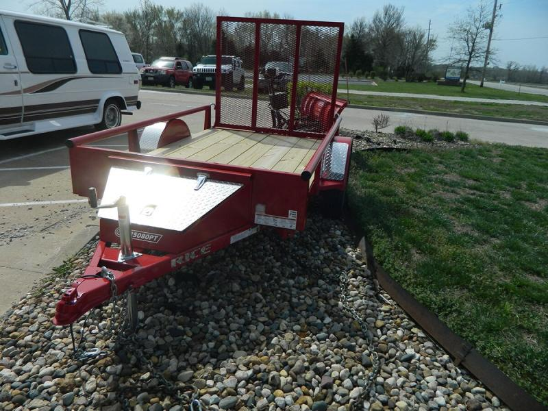 2019 Rice 5'x8' Pipe Top Utility Trailer