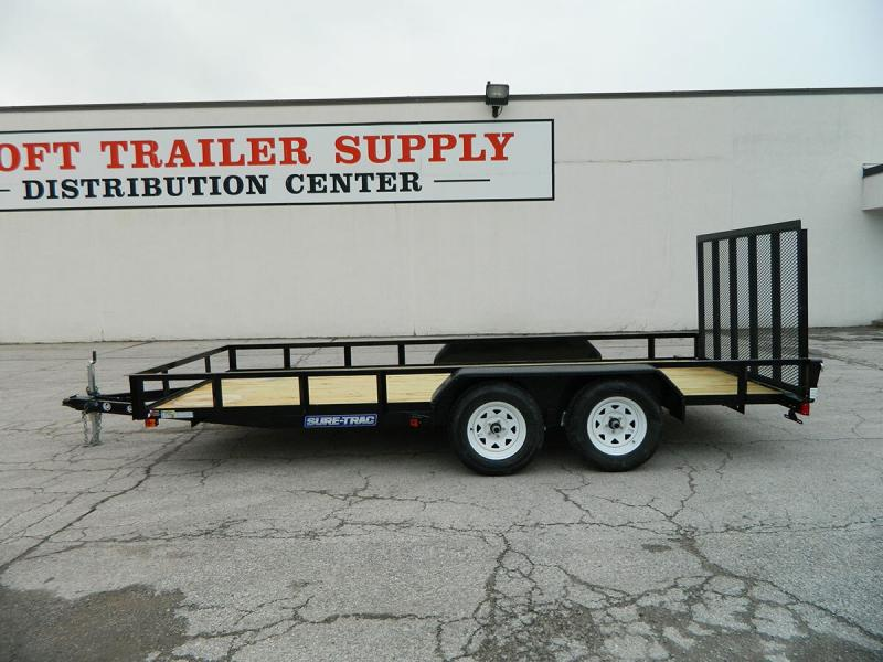 "2020 Sure-Trac 82""x16' Angle Iron Utility Trailer w/ Brakes"