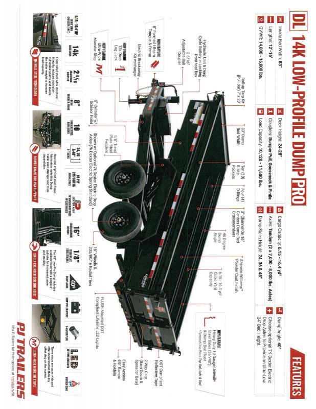 2020 PJ Trailers PJ DLA1272BSSK Dump Trailer