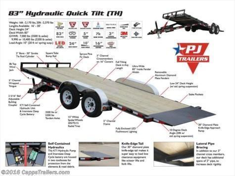 2019 PJ Trailers THJ2252ESTK48FQV Vehicle Tilt Deck