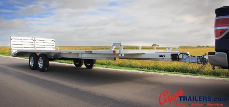 2020 Aluma 1030H-TA-BT-DT Flatbed Trailer