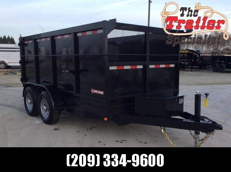 New 2020 Five Star DT262 6x12 10k Dump Trailer 4' sides