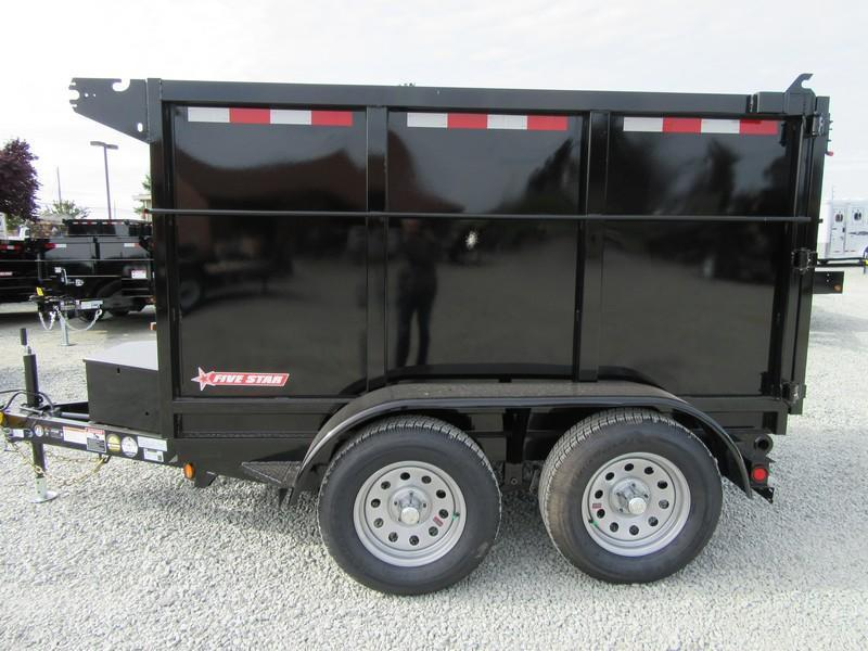 New 2020 Five Star DT290 5x8 Dump Trailer 7K 4' sides