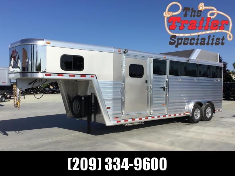 NEW 2020 Hart Trailers 22' Stock combo dual tack door Livestock Trailer