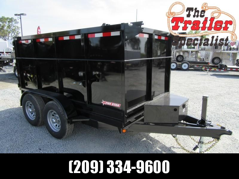New 2020 Five Star DT256 D10 5x10 4' sides 10K Dump Trailer