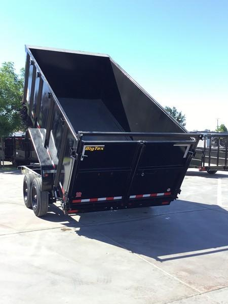 New 2020 Big Tex 16LX-14P4 17.5K GVW 7x14 4' sides Dump Trailer