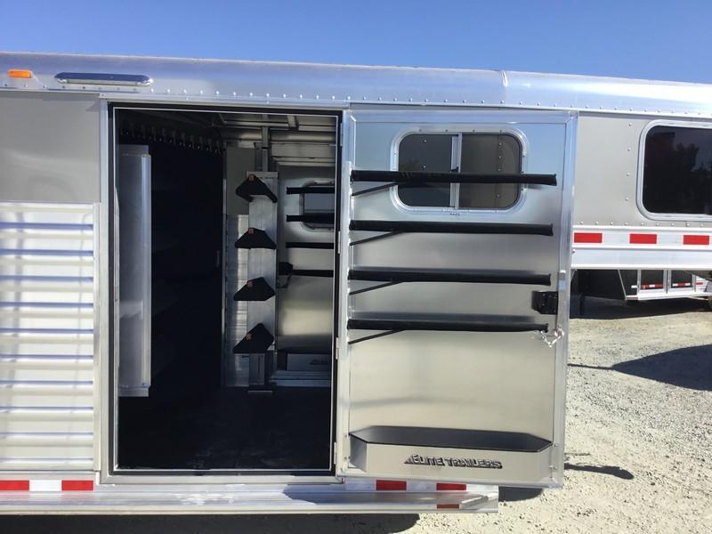 NEW 2019 Elite Trailers 22 ft dual man door stock combo Livestock Trailer