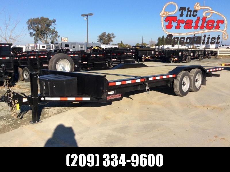 2020 Midsota TBWB-22 Equipment Trailer 7X22' 17K POWER TILT