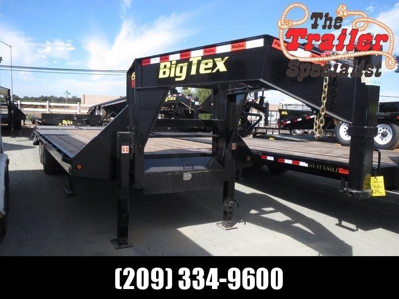 New 2020 Big Tex 25GN-20+5MR 25K GVW 25' Flatbed Trailer