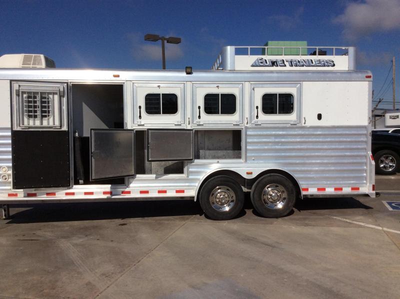 2012 Elite Trailers 4H GN LQ Horse Trailer