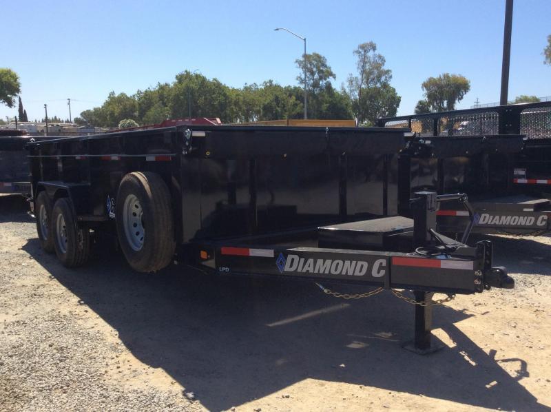 """NEW 2020 Diamond C Trailers Low Pro Dump LPD207L 16ft x82"""" Dump Trailer"""
