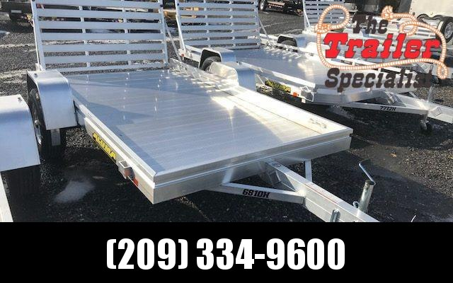 "New 2020 Aluma 6810H 68""x10' 3K GVW aluminum utility trailer"