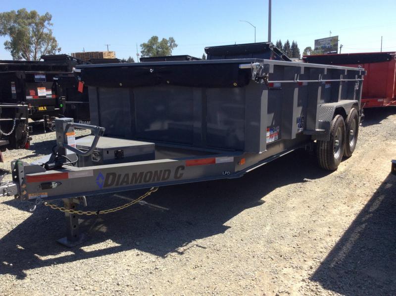 """NEW 2020 Diamond C Trailers Low pro dump LPD207L 14ft x 82"""" Dump Trailer"""
