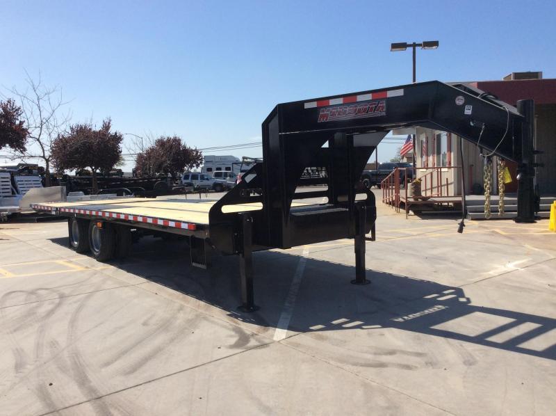 NEW 2020 Midsota 28 ft Heavy Duty hydraulic dove tail Equipment Trailer