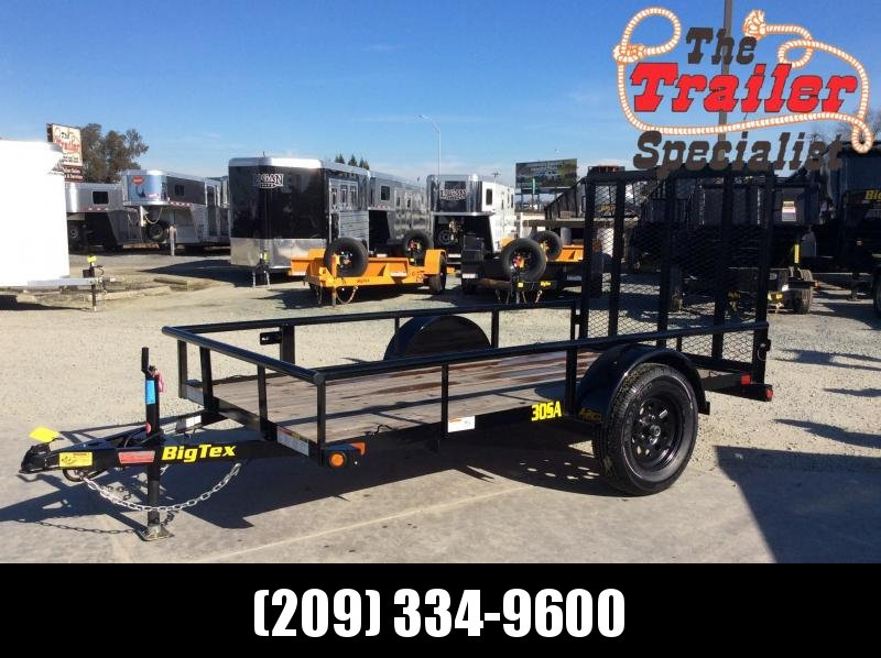 NEW 2020 Big Tex Trailers 30SA-10 5x10 Utility Trailer