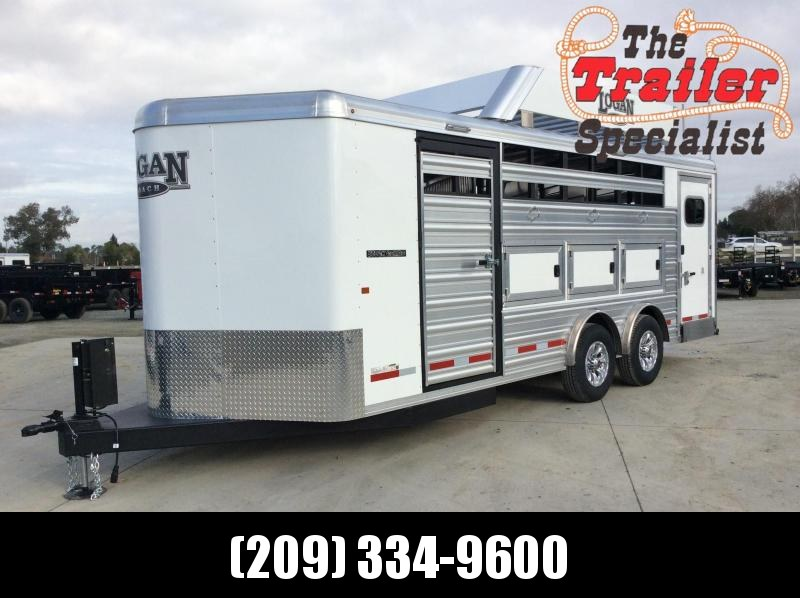 2020 Logan Coach 20' STOCK COMBO BP Horse Trailer