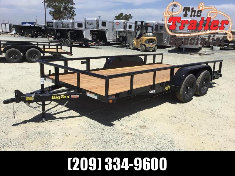 "2020 Big Tex Trailers 70PI-18XBRK2SIR 83""x18' Utility Trailer"