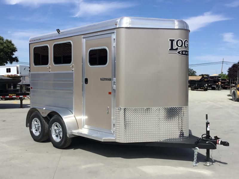 NEW 2020 Logan Coach 2 Horse Bullseye Horse Trailer