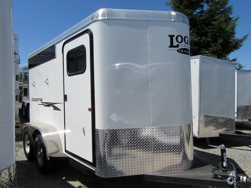 New 2020 Logan Coach Crossfire 2H Horse Trailer
