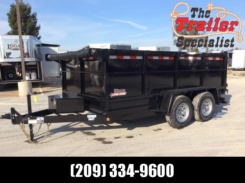2020 Five Star DT280 Dump Trailer 7x12 10k GVW 3' Sides