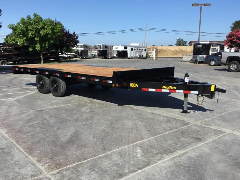 New 2020 Big Tex 10OA-18 Flatbed Trailer 8.5x18 10K GVW
