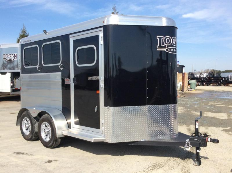 NEW 2020 Logan Coach 2 horse Bullseye Horse Trailer