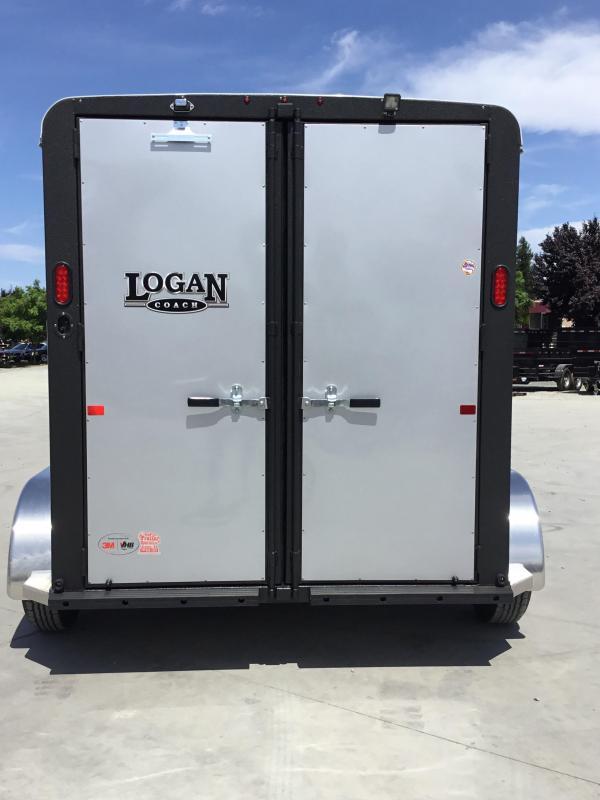 NEW 2019 Logan Coach 2 horse Bullseye Horse Trailer