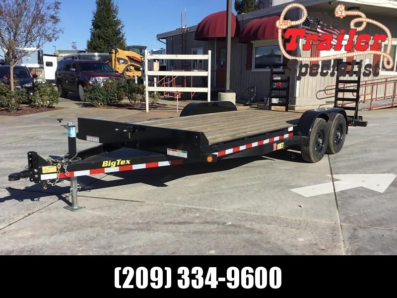 New 2019 Big Tex 10ET-18KR Equipment Trailer 7X18 10K GVW