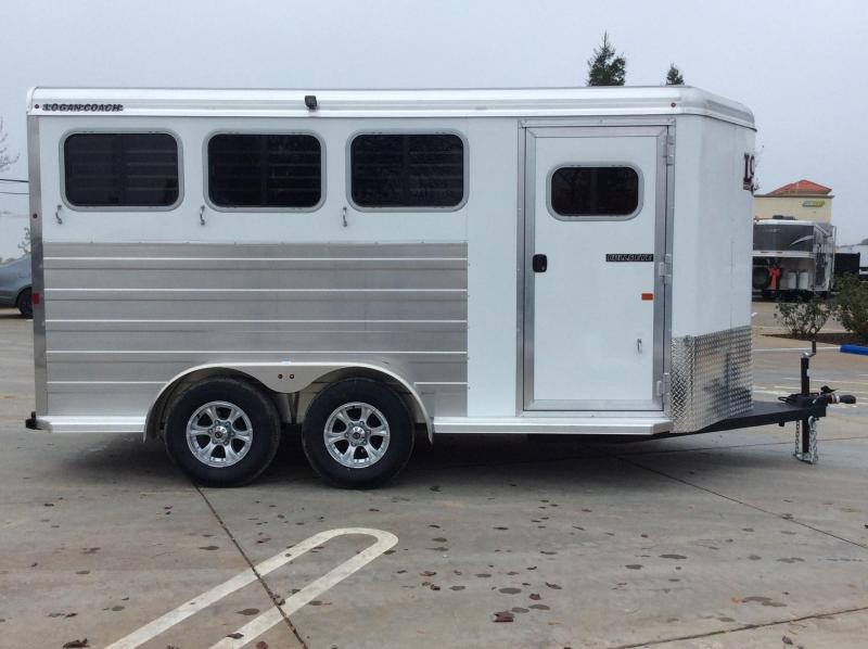 NEW 2020 Logan Bullseye 3H Bumper Pull Horse Trailer