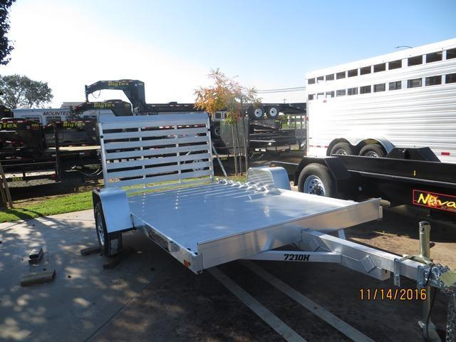 "New 2020 Aluma 7210H 72""x10' Aluminum Utility Trailer VIN63995"