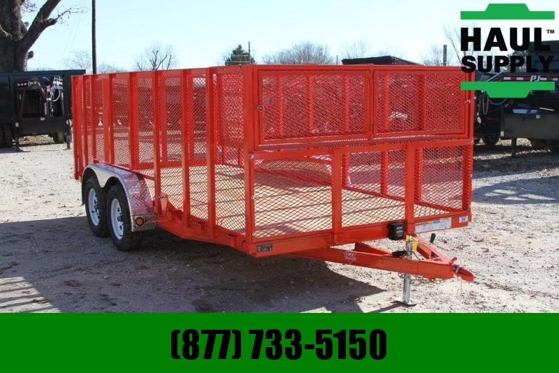 PJ Trailers 83X16 LANDSCAPE TRAILER CAGE-TOOLBOX CHAN