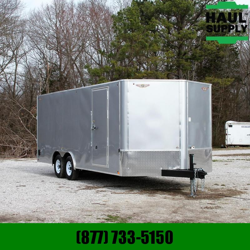 H & H Trailer 8.5X20 10K V-NOSE ENCLOSED CAR HAULER RIV