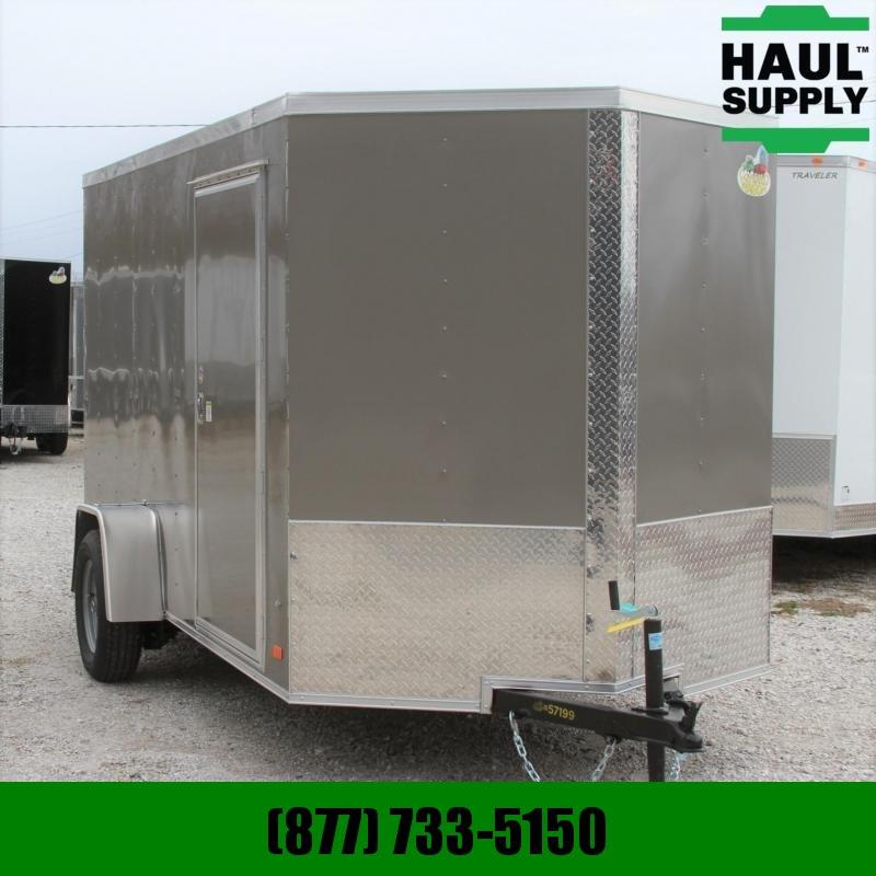 Covered Wagon Trailers 6X12SA V-Nose Enclosed Cargo Trailer RR L Cargo / Enclosed Trailer