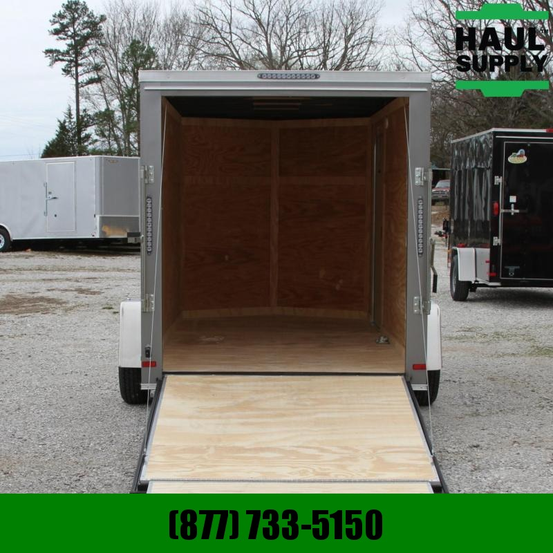 Covered Wagon Trailers 6X12SA V-Nose Enclosed Cargo Trailer RR L
